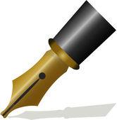 Writing pen head — Stock Vector