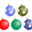 Christmas ornaments balls set — Image vectorielle