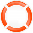 Life ring buoy in white — Imagen vectorial
