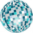 Royalty-Free Stock Vector Image: Vector - Disco ball in green tones isolated