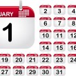 Vettoriale Stock : Calendar Icons for month January