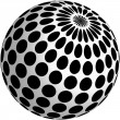 3d ball design with black dots — Stok Vektör #19943783