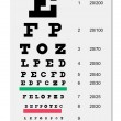 Snellen Eye chart — Stock Vector #19945659