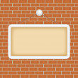 Blank sign at a brick wall — Stock Vector