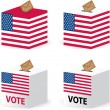 Vote poll ballot box for united states — Imagen vectorial