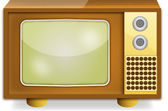 Television set — Stock Vector