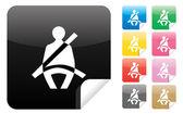 Seatbelt Icon — Stock Vector