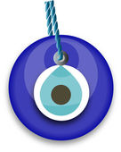 Blue bead, worn to avert the evil eye — Stock Vector