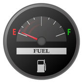 Car dash board petrol meter, fuel gauge — Stock Vector
