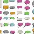 Vector illustration of Comics Word and Thought Bubbles — Image vectorielle