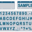 Foto Stock: Empty License Plate With Editable Texts