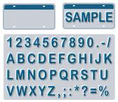 編集可能なテキストと空のナンバー プレート — ストック写真