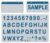 Empty License Plate With Editable Texts — Stockfoto