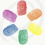 Vector finger prints — Stock Vector #19979093