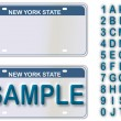 Empty License Plate New York With Editable Live Text - Stok Vektör