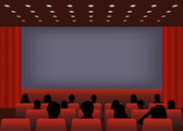 Cinema screening — Vector de stock
