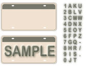 Empty License Plate With Editable Live Texts (See Also Image ID: — ストックベクタ