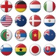 National flags of countries — Imagen vectorial