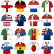 Royalty-Free Stock Vector Image: Uniforms of national flags