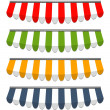 Four different colored vector awnings — Stockvektor #19981529