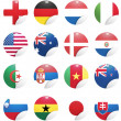 Vector de stock : National flags of countries starting with south africa