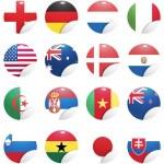 bandeiras nacionais dos países, começando com a África do Sul — Vetorial Stock