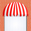 Stock Vector: Storefront Awning in red