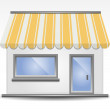 Storefront Awning in Yellow — Stock Vector #19982785