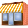 Stock Vector: Storefront Awning in yellow