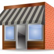 Stock Vector: Vector awning