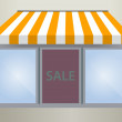 Storefront Awning in yellow — Image vectorielle