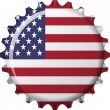 Flag of united state of america in crown cap shape — Grafika wektorowa