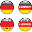 Empty vote badge button for germany elections — Stock Vector