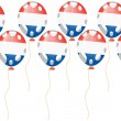 Flag of France in balloon shape — Imagen vectorial