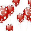 Stock Vector: Red balloons of turkish flag