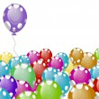 Vector illustration of party balloons with white spots — Stok Vektör