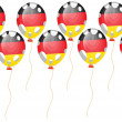 Balloon of German flag — Stockvektor