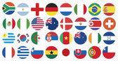Bandiere nazionali dei paesi — Vettoriale Stock
