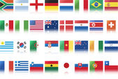 National flags of countries — Wektor stockowy