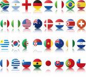 Státní vlajky zemí — Stock vektor