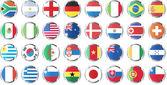 Banderas nacionales de los países — Vector de stock