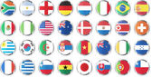 National flags of countries — Stockvector