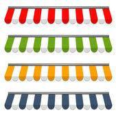 Cztery różne kolorowe wektor markizy — Wektor stockowy
