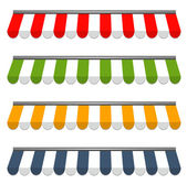 Quatro toldos vector coloridas diferentes — Vetorial Stock