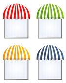 4 つの異なる色ベクトル日除け — ストックベクタ