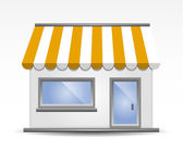 Storefront Awning in Yellow — Stock Vector