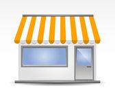 Storefront tenda in giallo — Vettoriale Stock