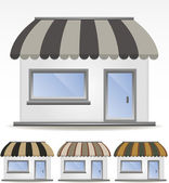 Vector awnings — Stock Vector