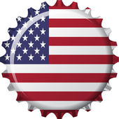 Flag of united state of america in crown cap shape — Stock Vector