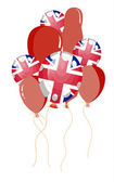 Balloon of United Kingdom flag — Stock Vector